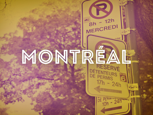 Design Graphique / Cartes postales de Montréal