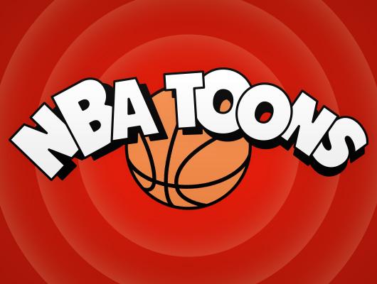 NBA logos design as cartoon characters