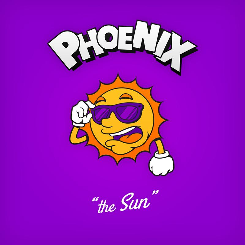 "Phoenix ""the Sun"" logo design as cartoon character"