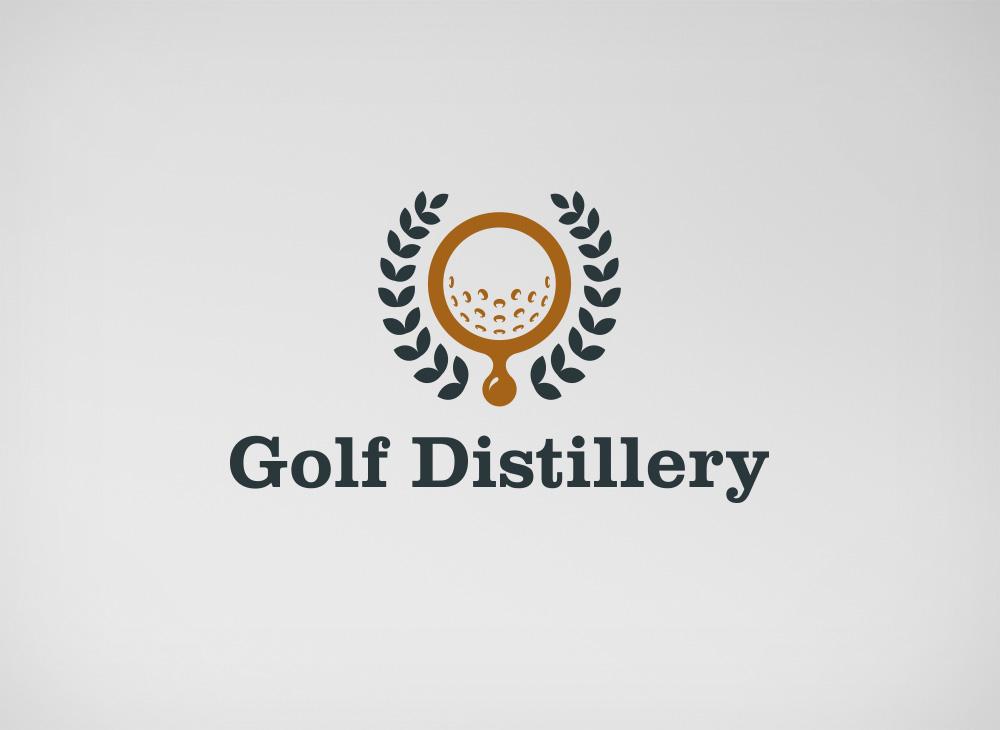 Design de logo officiel pour Golf Distillery