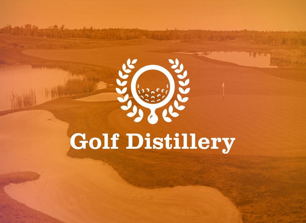 Golf Distillery variation logo inversé