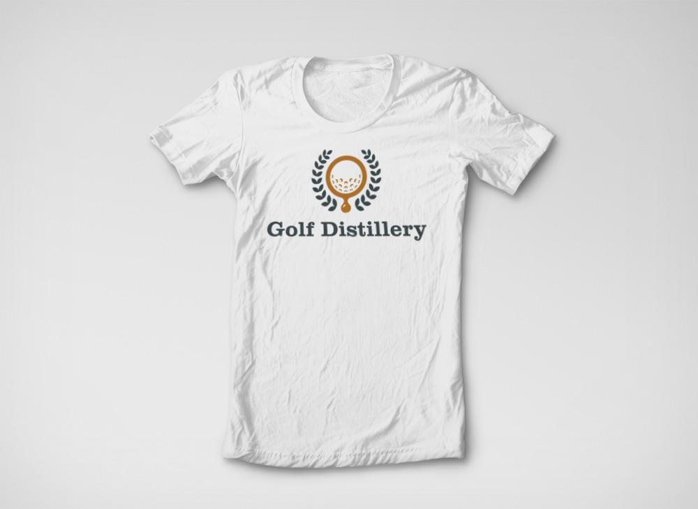 Logo Golf Distillery sur T-shirt