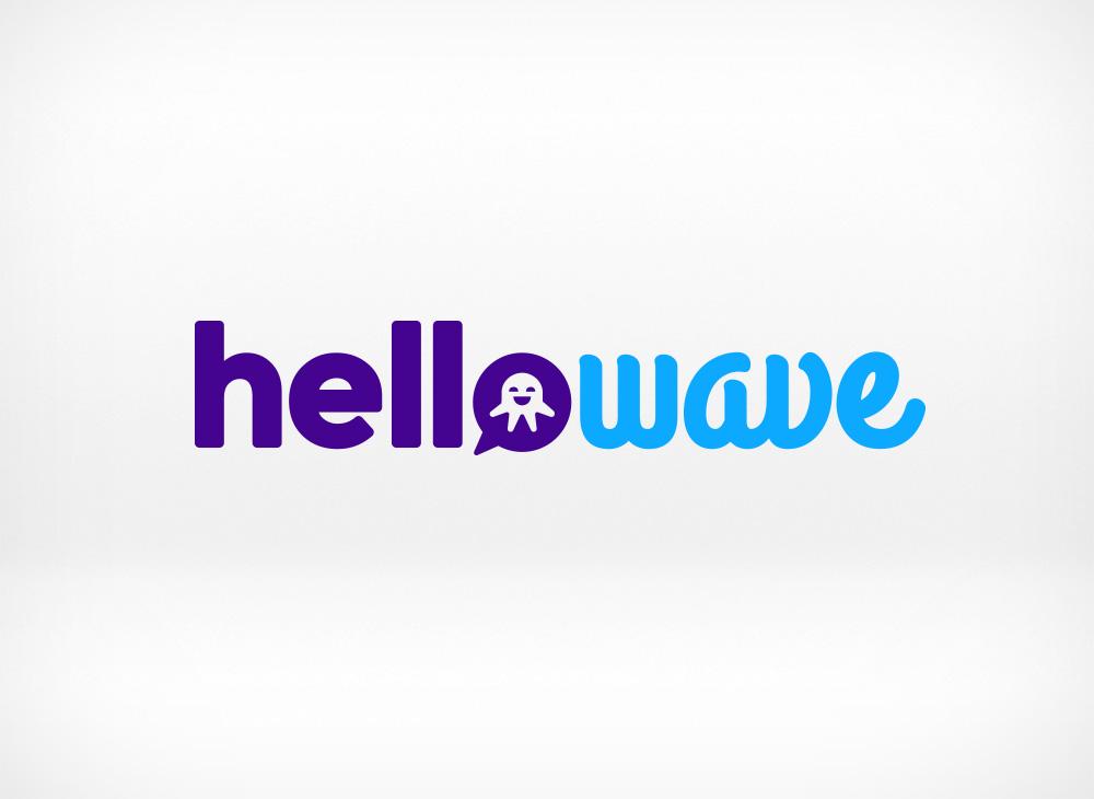 Hellowave logo design
