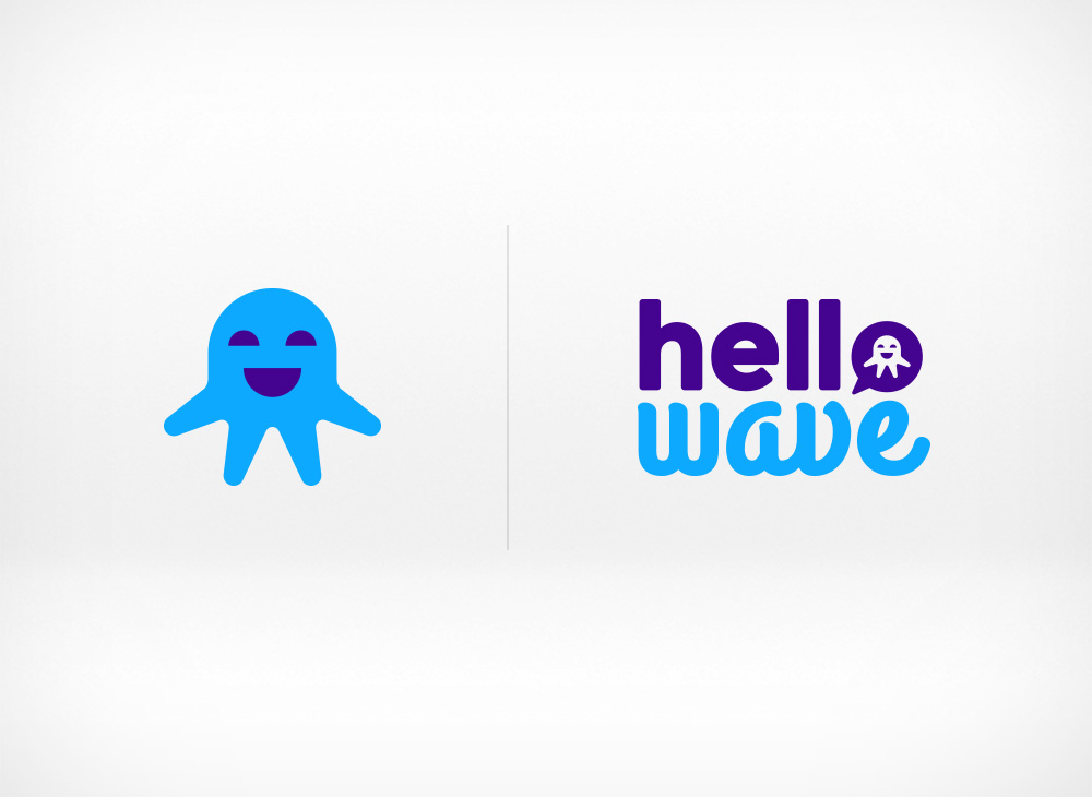 Hellowave mascot and logo design