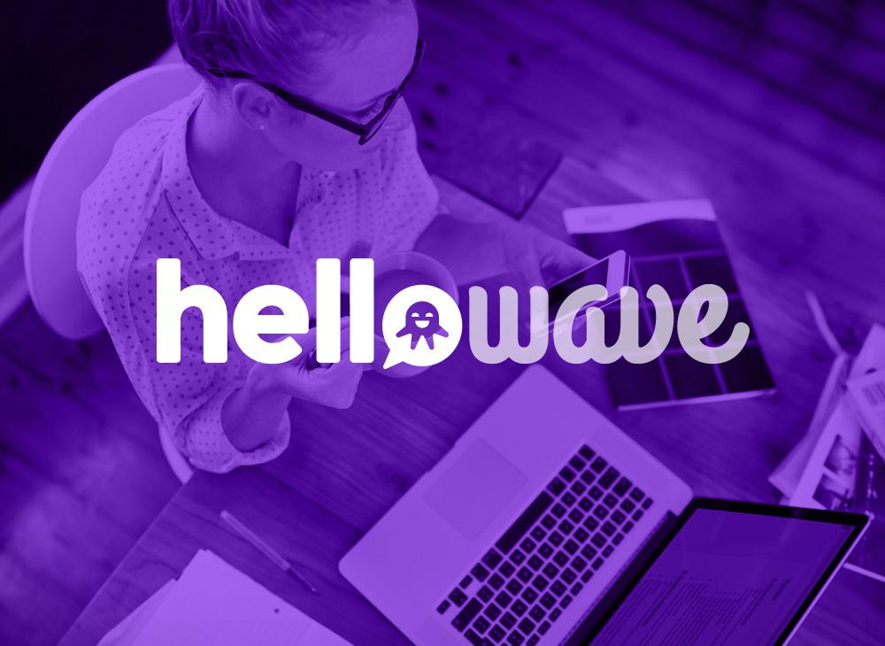 Reverse logo design Hellowave