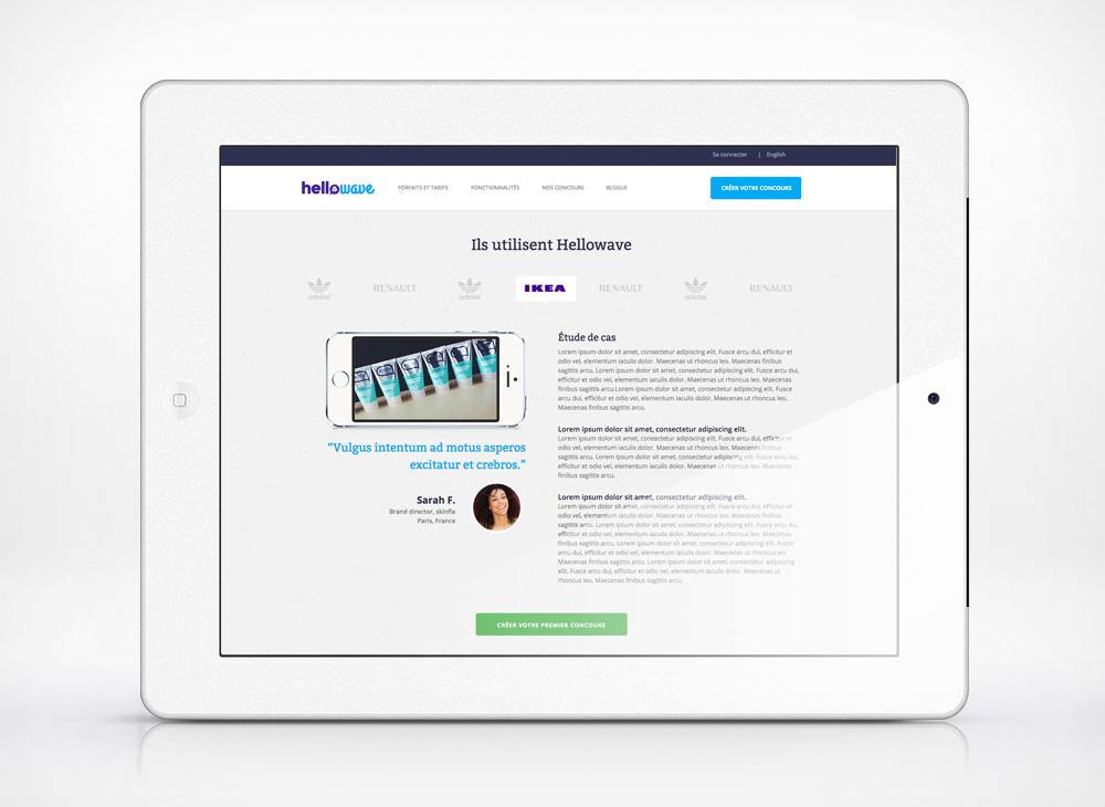 website design for Hellowave