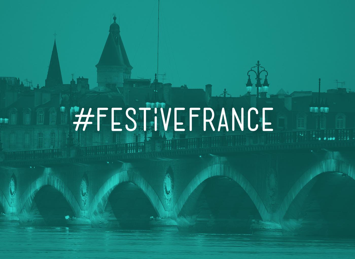 Festive France Hashtag Type design