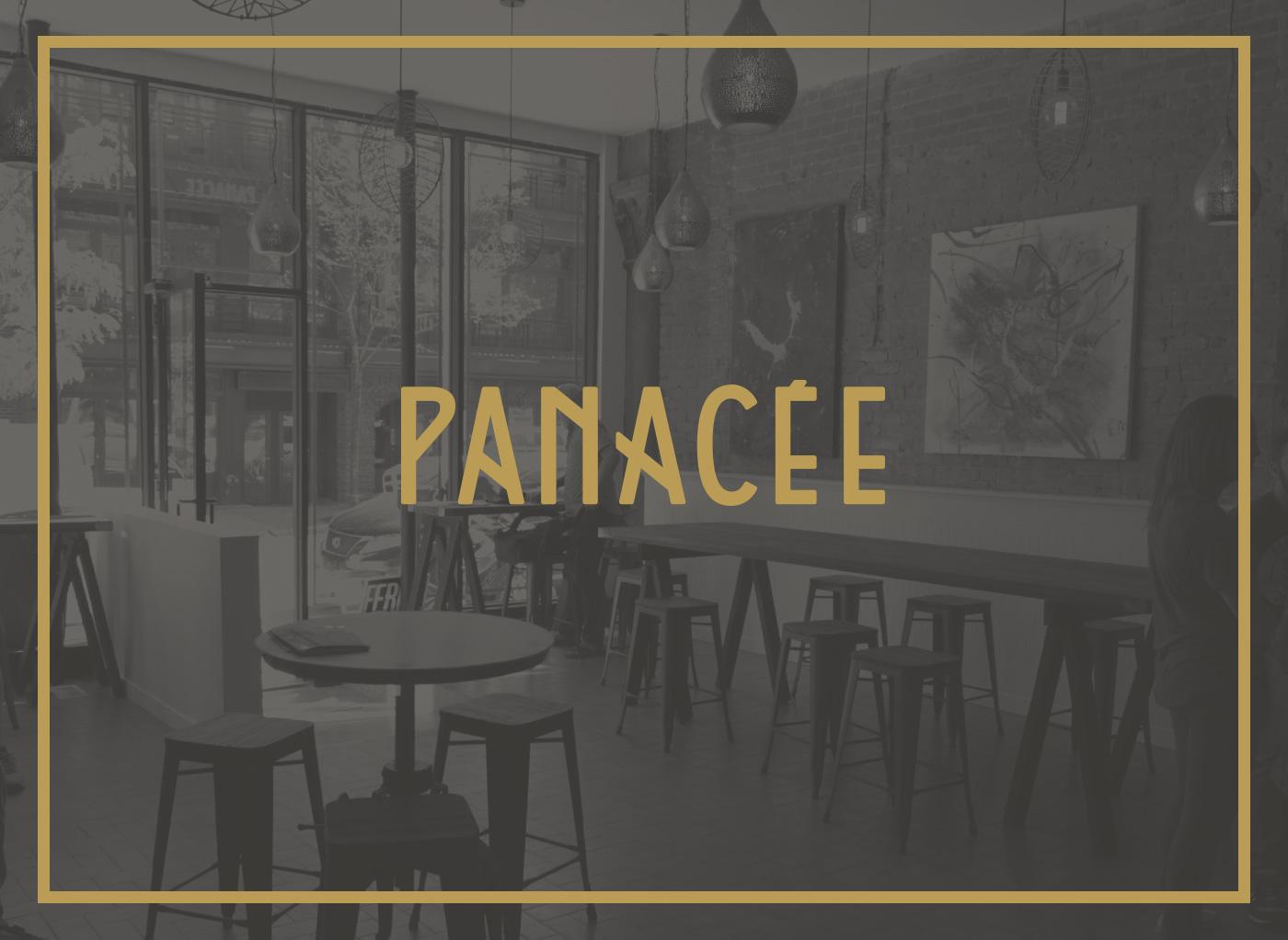 Design de typographie pour Panacée