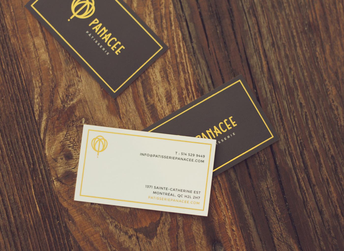 Design de cartes d'affaires pour Panacée