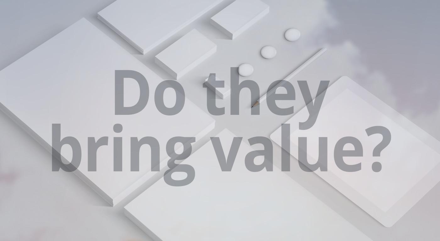Does graphic design bring value?