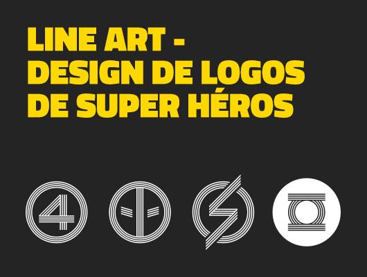Line Art - Design de logos de super héros