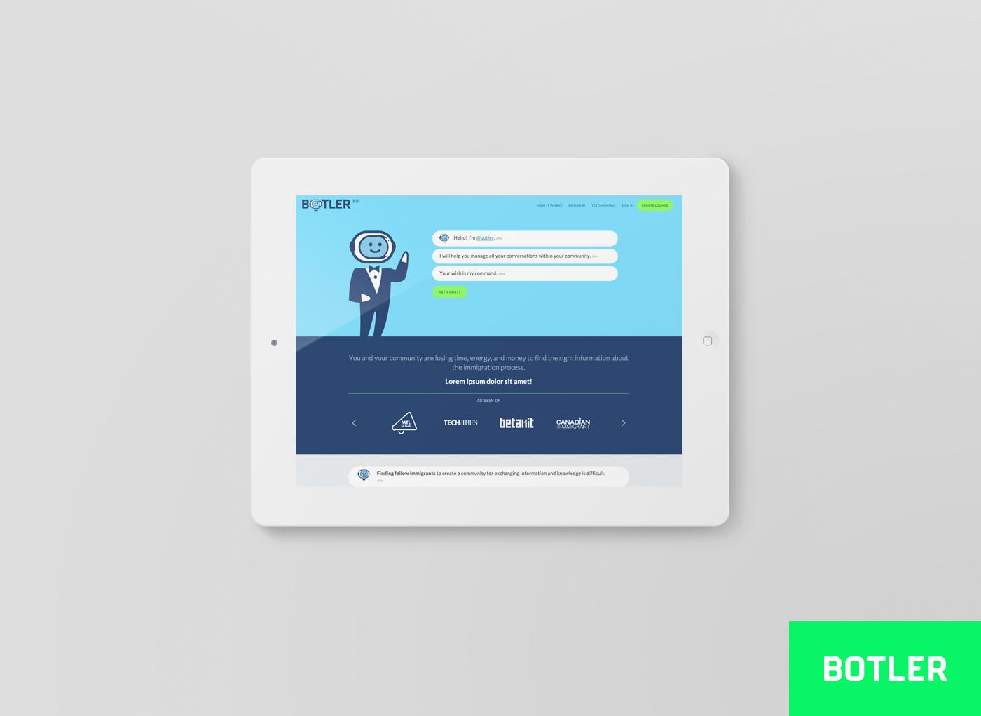 Botler Design de site web