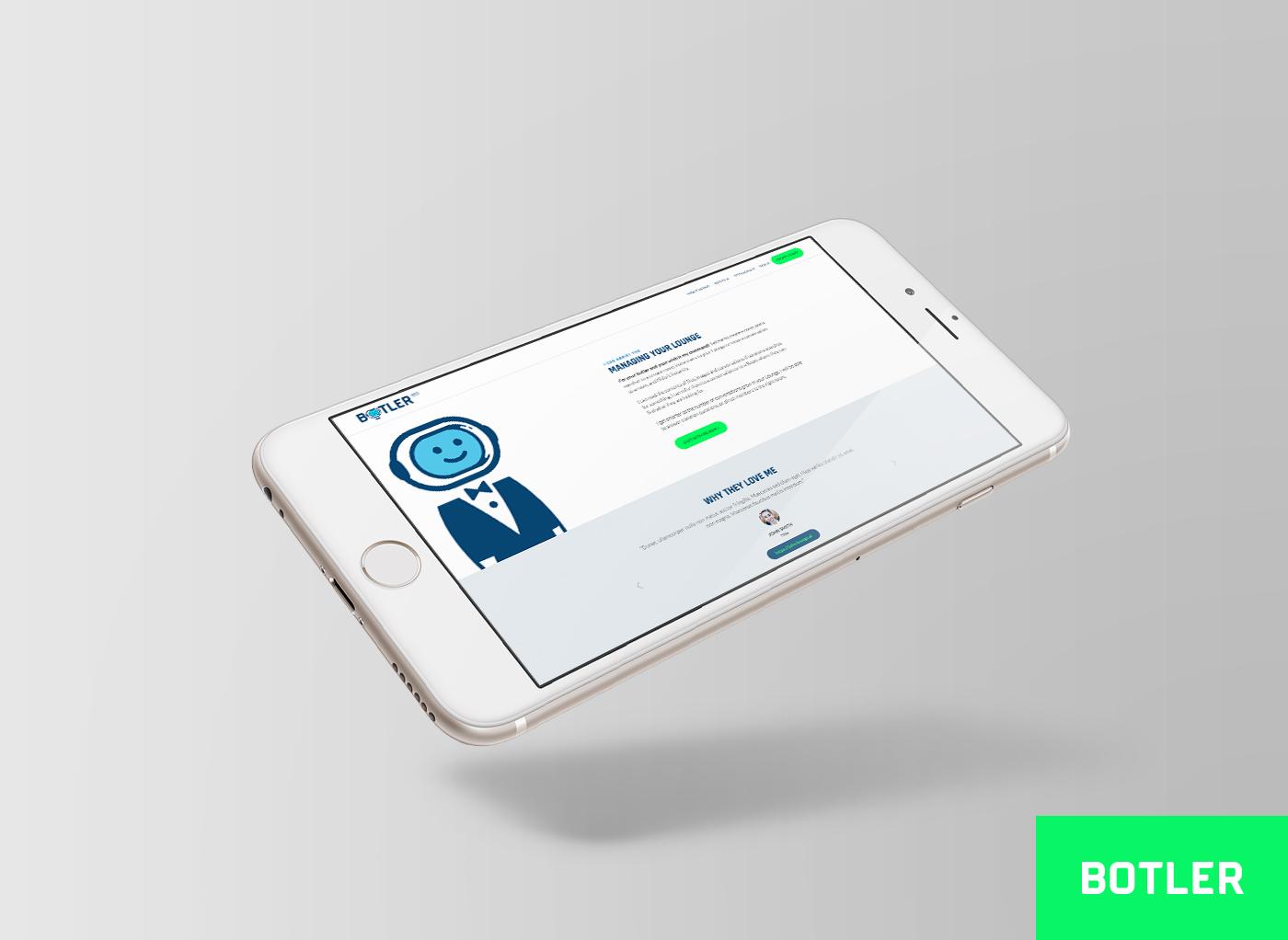 Botler Design de site mobile