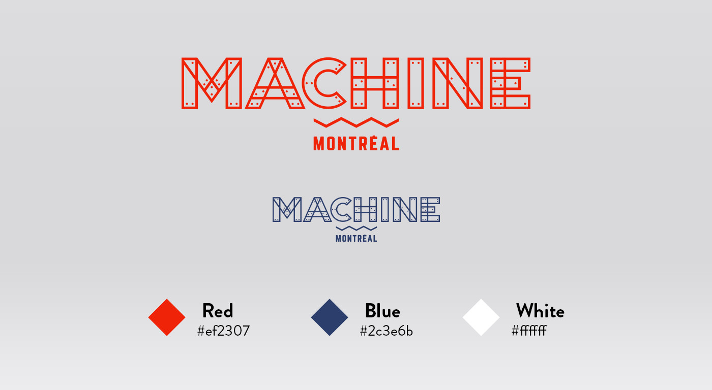 Lettering Logo Color Chart Machine Montreal