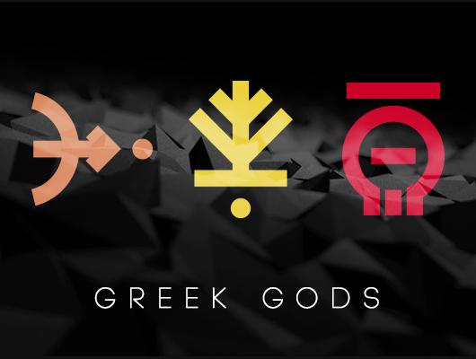 Greek Gods Minimalist Logos