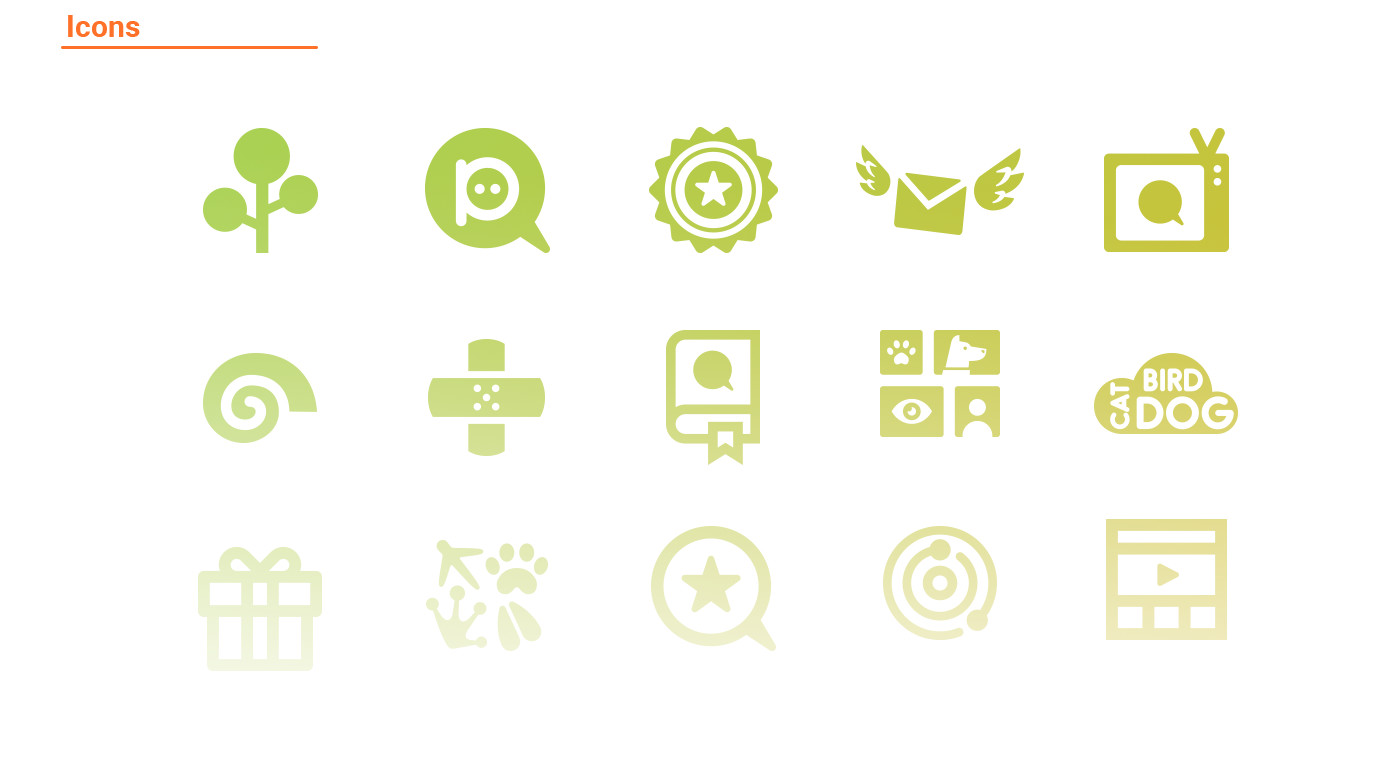 Application icons design for petsqui