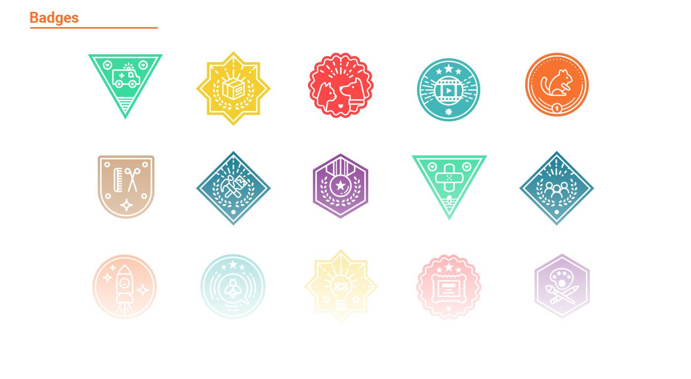 badges design for petsqui