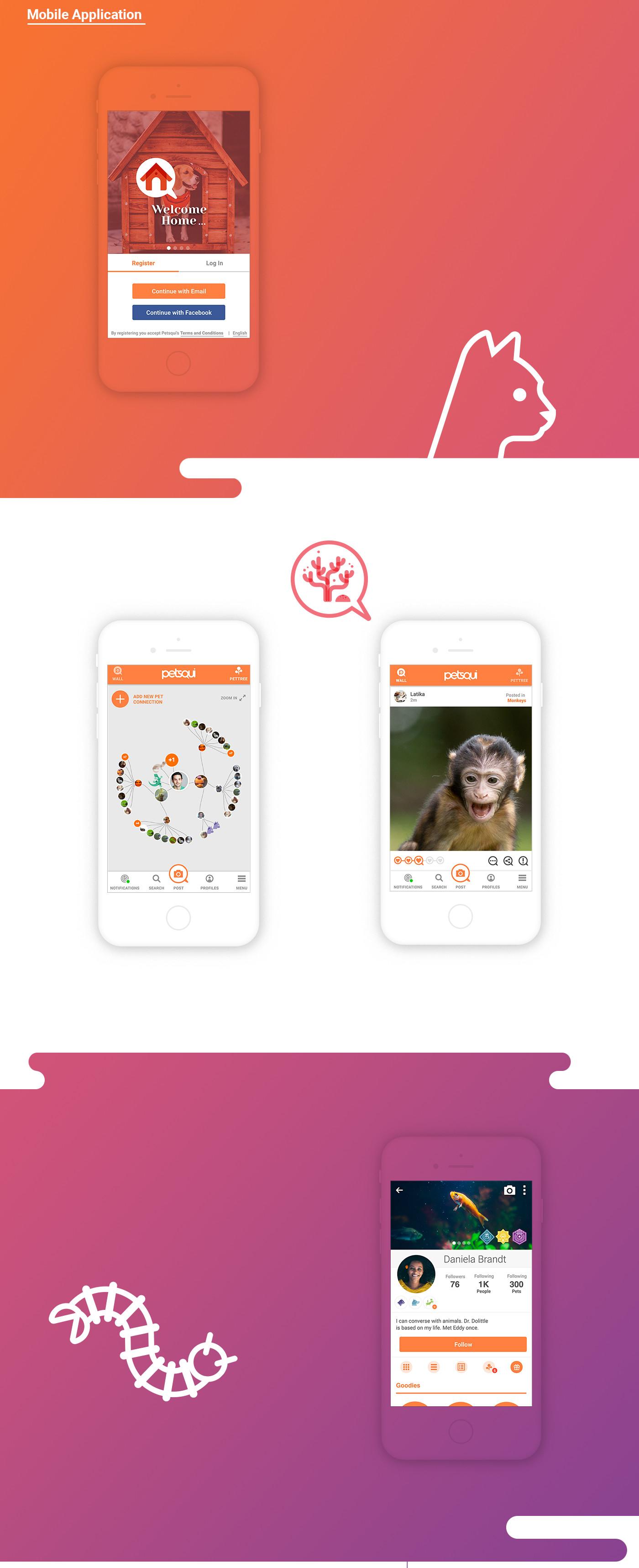 mobile application design for petsqui
