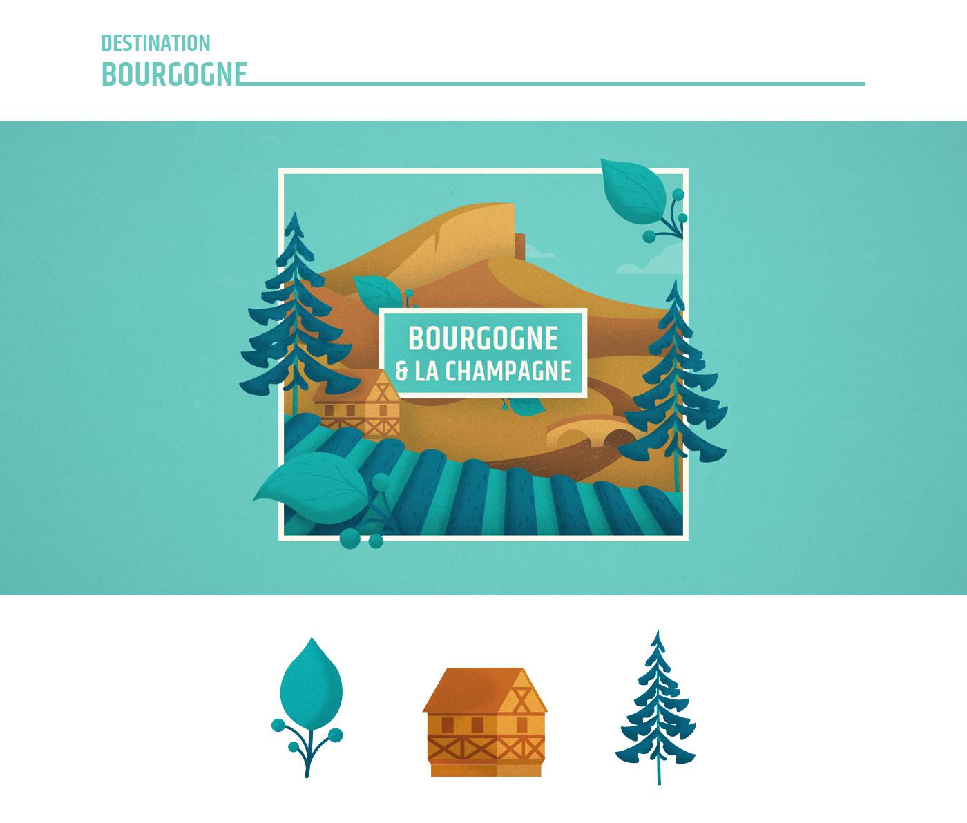 Illustration Bourgogne - France Nature