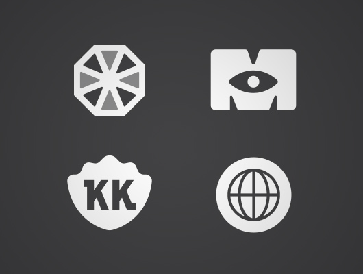 Fan art logos from favourite movies and tv shows